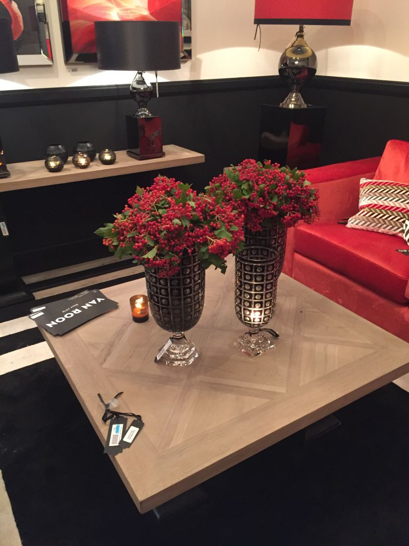 Decorate with black glass vases