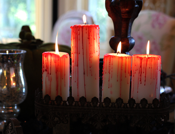 Drippy blood candles