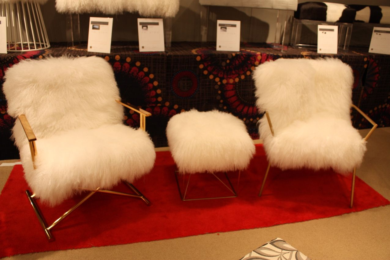 Fur Desk Chair Fur Furniture Adds Glamour To Any Room