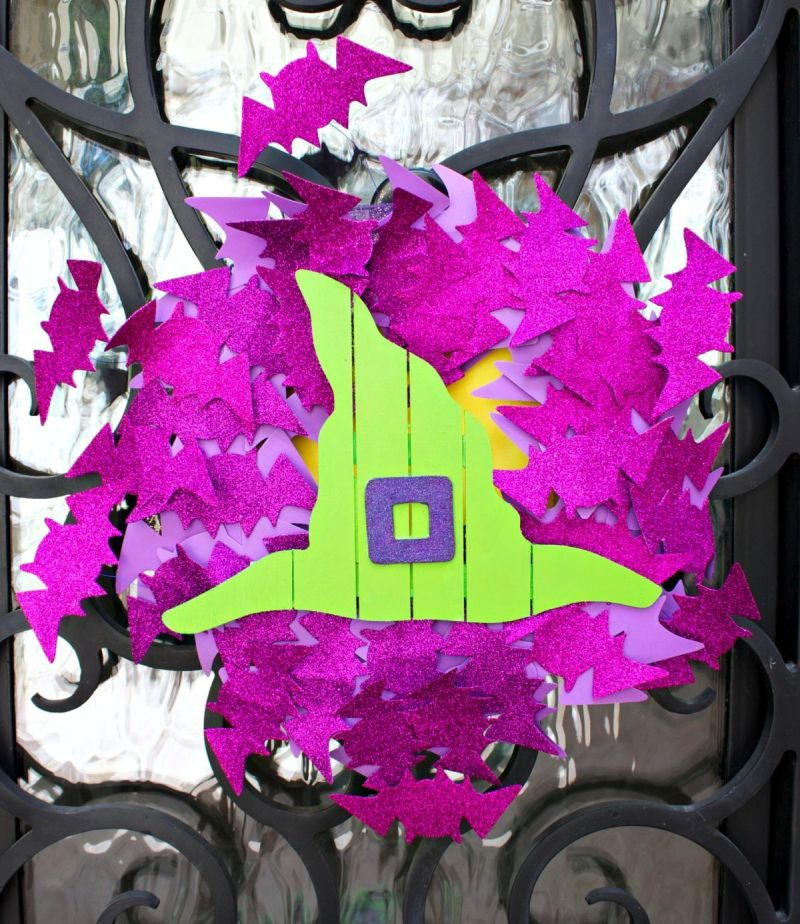 Halloween Front Door Bat Wreath DIY