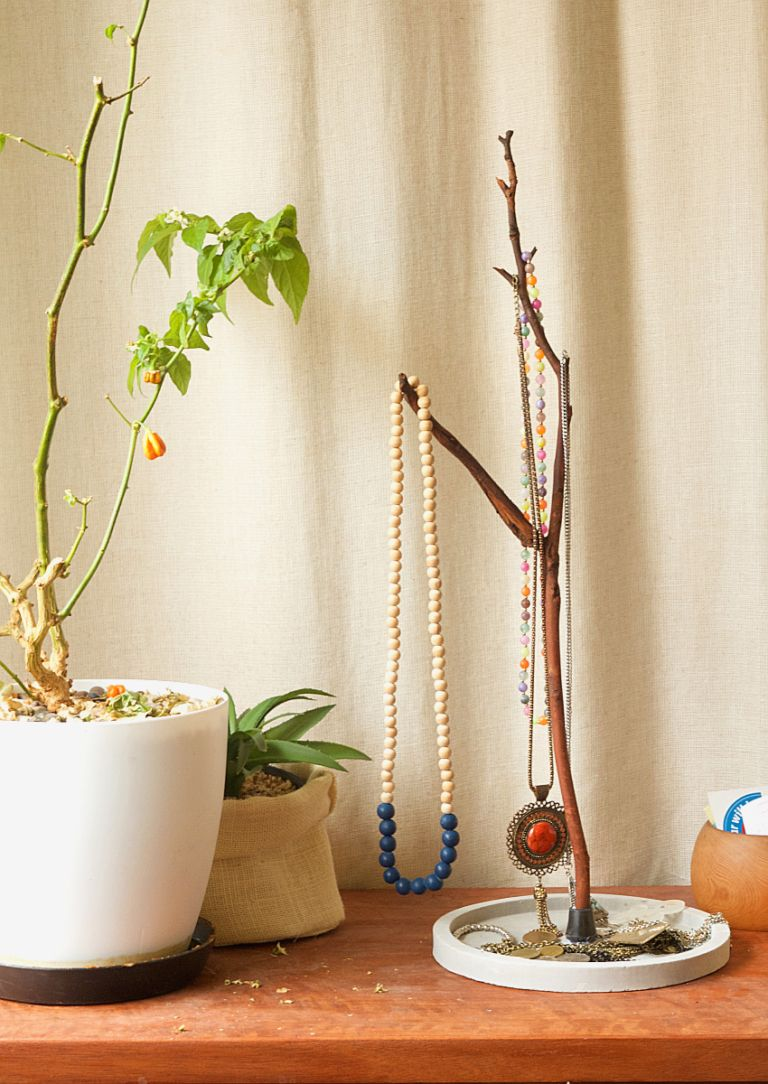 Tree Branch Jewelry Holder : branch, jewelry, holder, Branch, Jewelry, Display, Stand