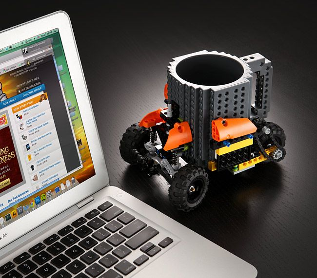 Lego brick coffee mug