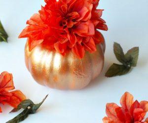Metallic paint pumpkin spray