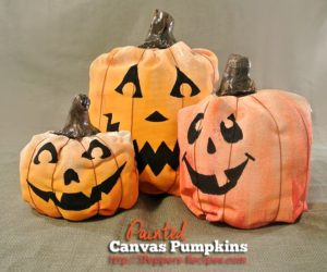 Paint the fabric to create beautiful pumpkins