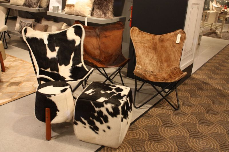 Peninsula hair on hide sling chairs