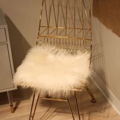 Faux Fur Chair Cover Diy Bedroom Hanging Furniture Adds Glamour To Any Room
