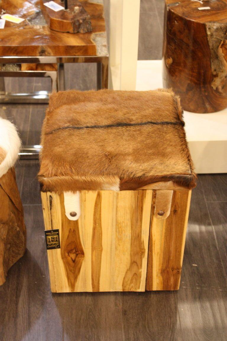 UMA hair on hide top stool