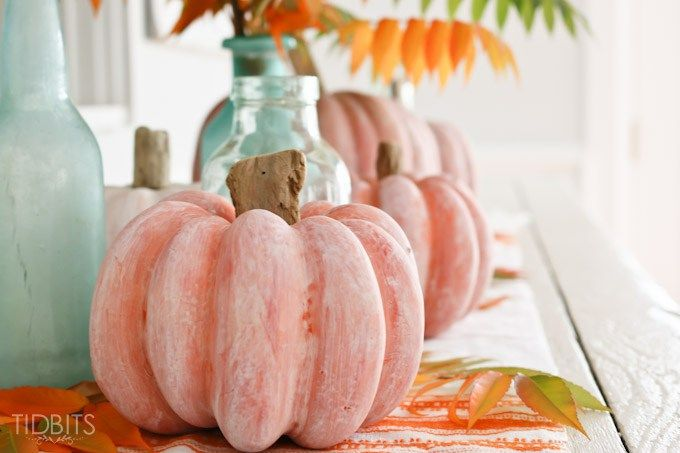 White wash pumpkin