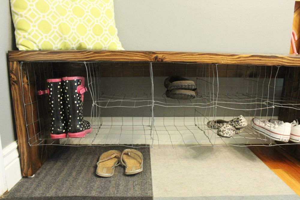 Wire Industrial bench for entryway