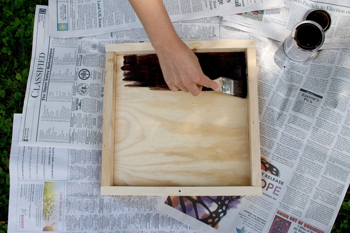 Wooden Tray Using Drawer Knob Handles - Coat