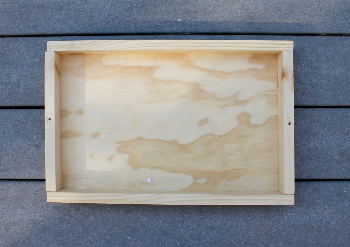 Wooden Tray Using Drawer Knob Handles - Glue