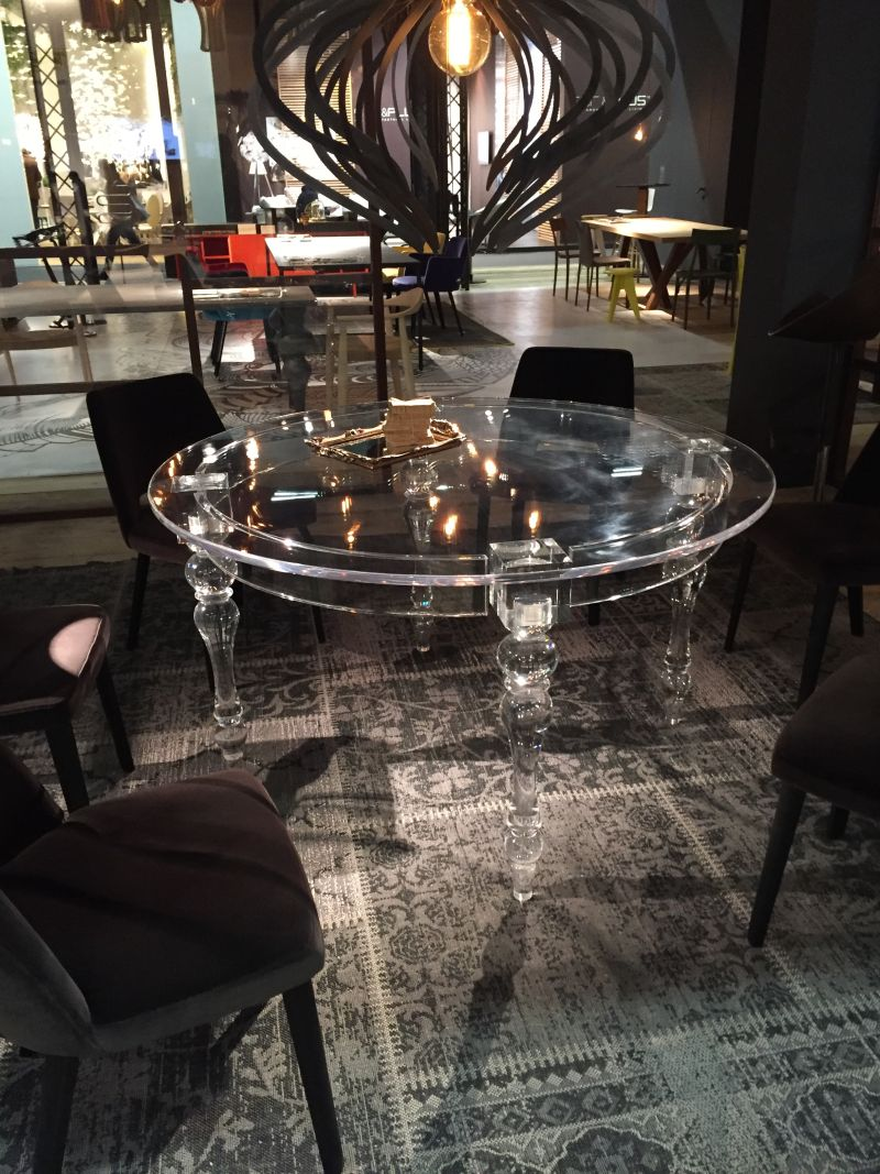 Acrylic round dining table design