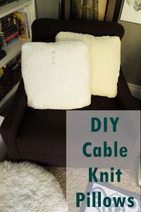 Simple DIY: Cable Knit Throw Pillows Out of Old Sweaters