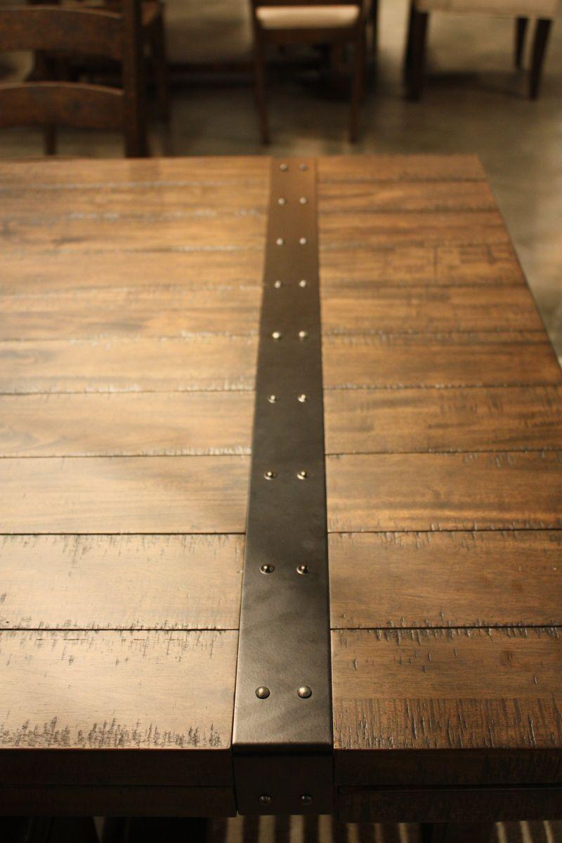 Contrast between wood and metal