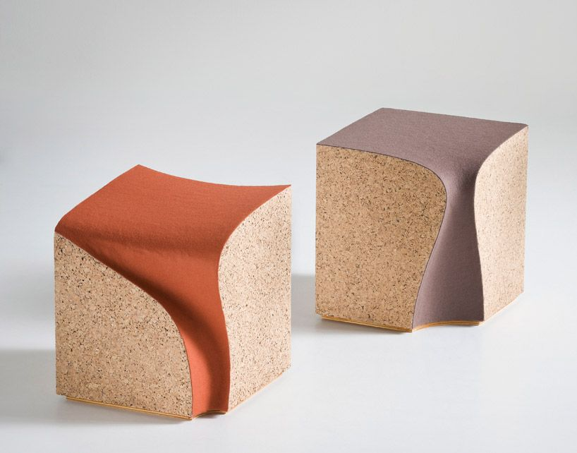 Cork Stool Eroded by Alessandro Isola