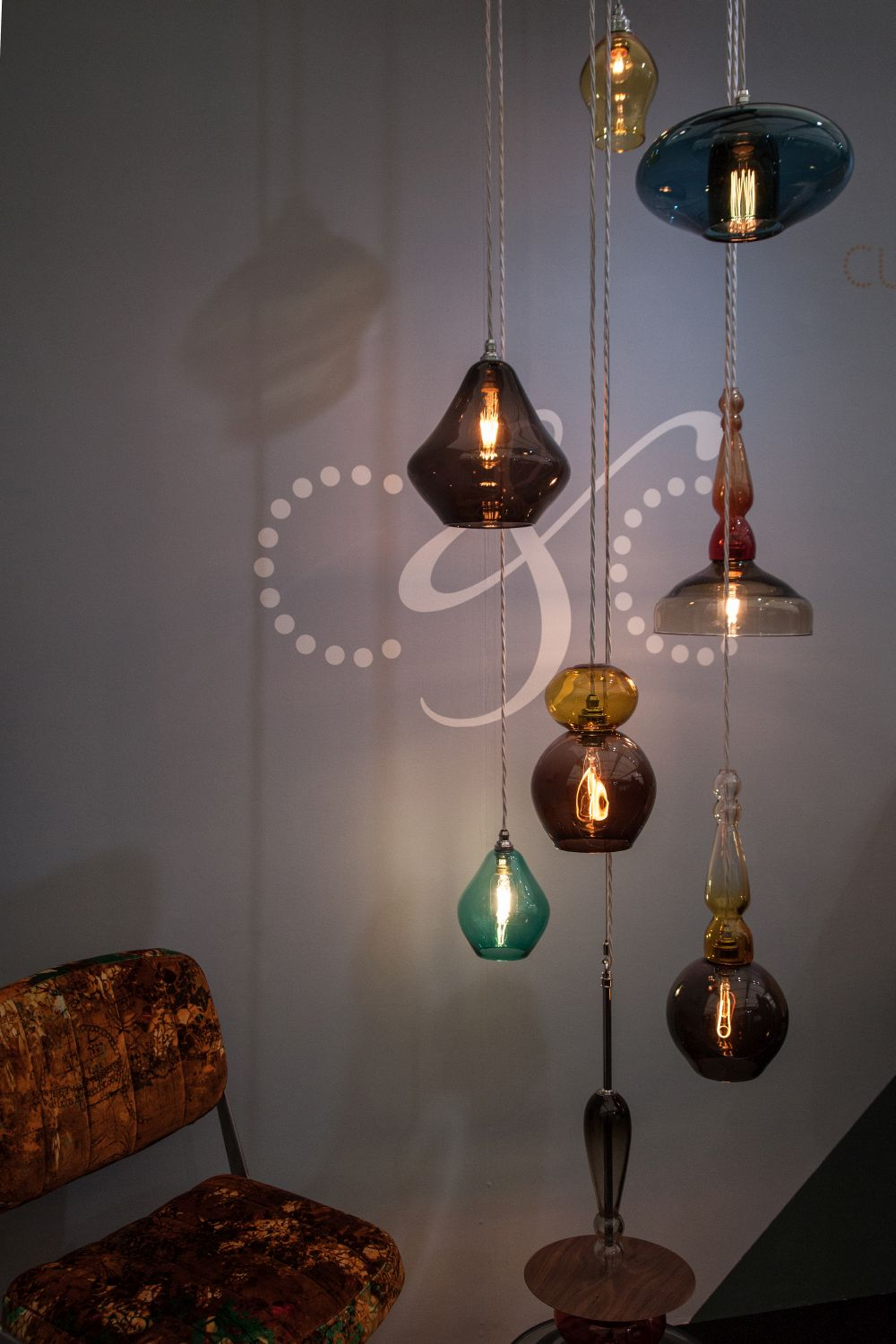 Curiosa hand-blown glass lighting
