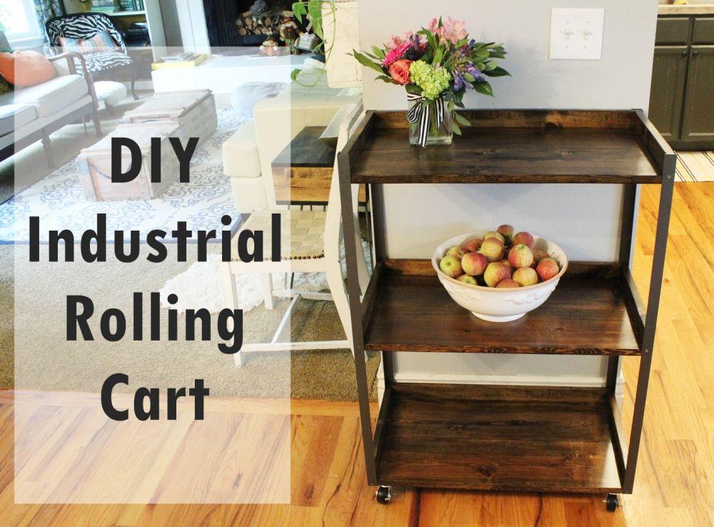 DIY Industrial Rolling Cart
