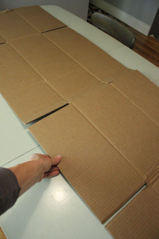 DIY Polka Dot Tablecloth Cardboard