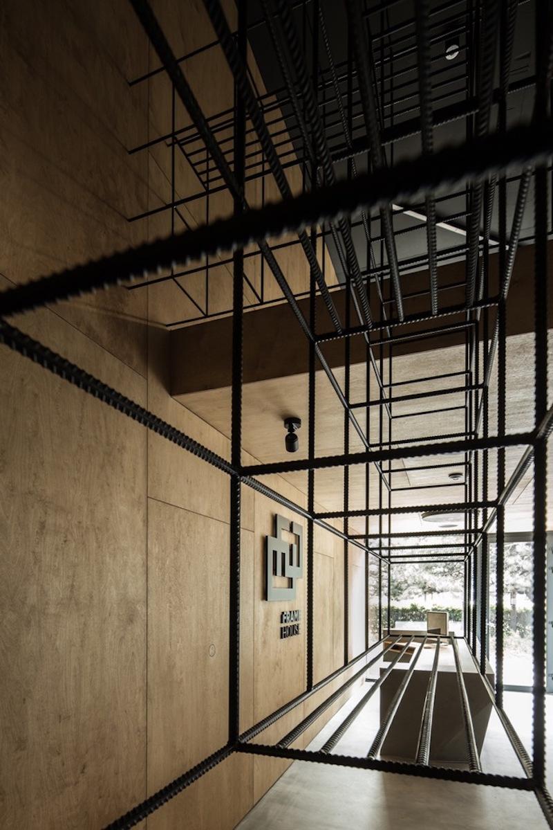 Framehouse office mesh shelving unit
