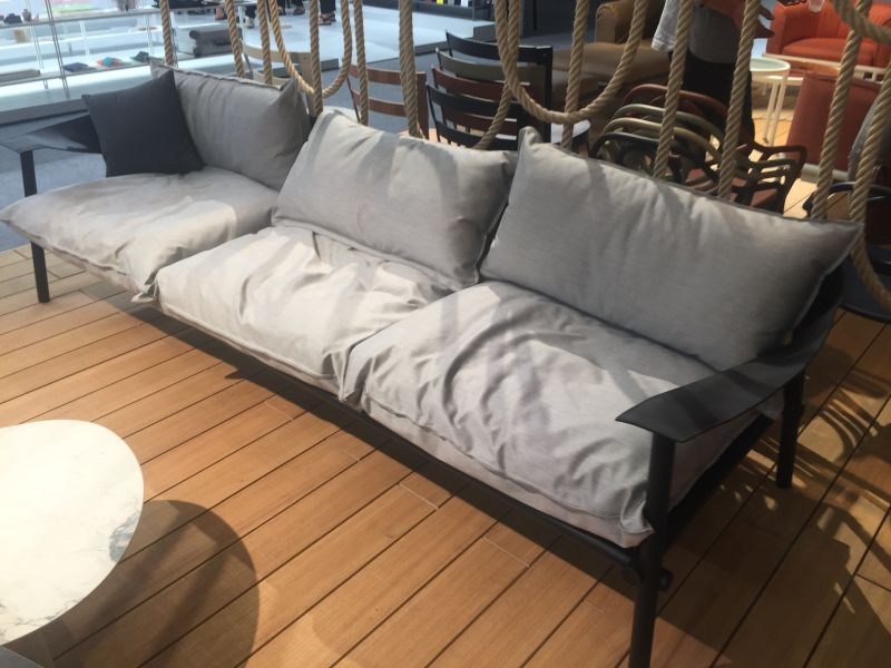 Grey Sofa Design with Black Frames