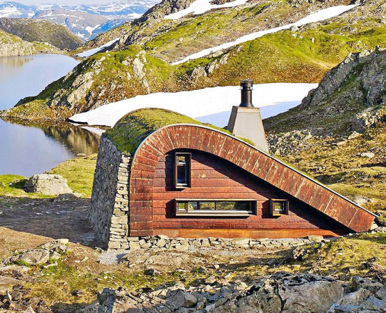Norway Tiny Cabin Green roof