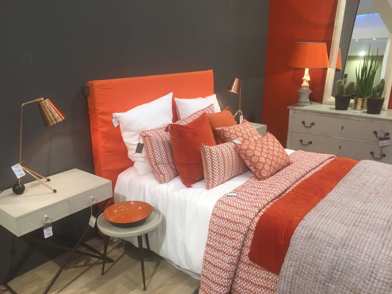 Orange bedroom design