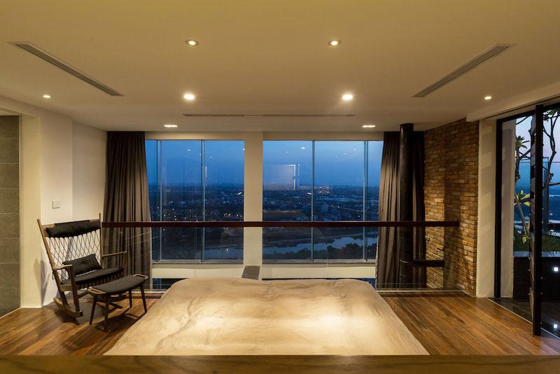 Penthouse Ecopark bedroom window