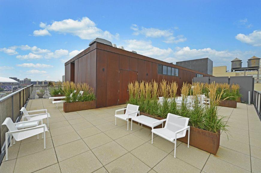 Rooftop corten planters