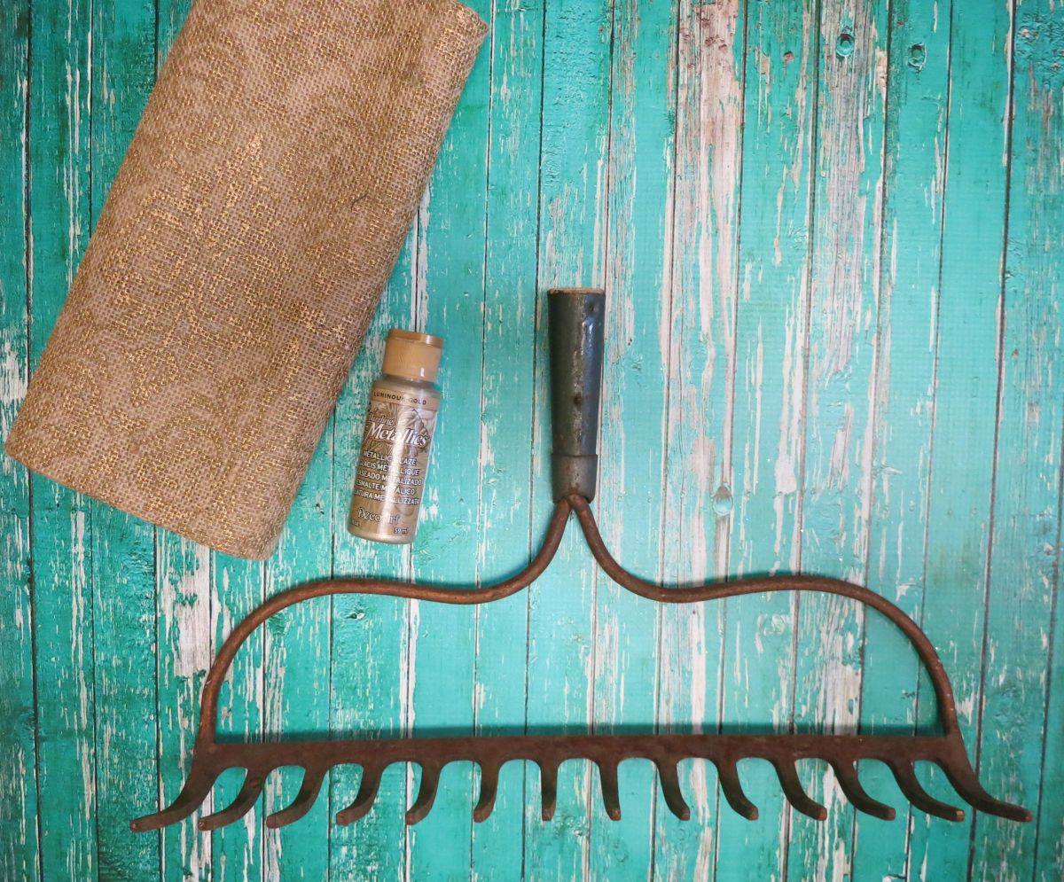 Turn a Rake into a Wine Glass Holder - supplies