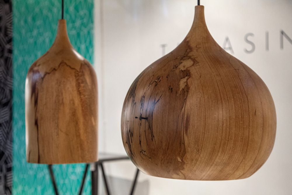Wooden tree pendant lights