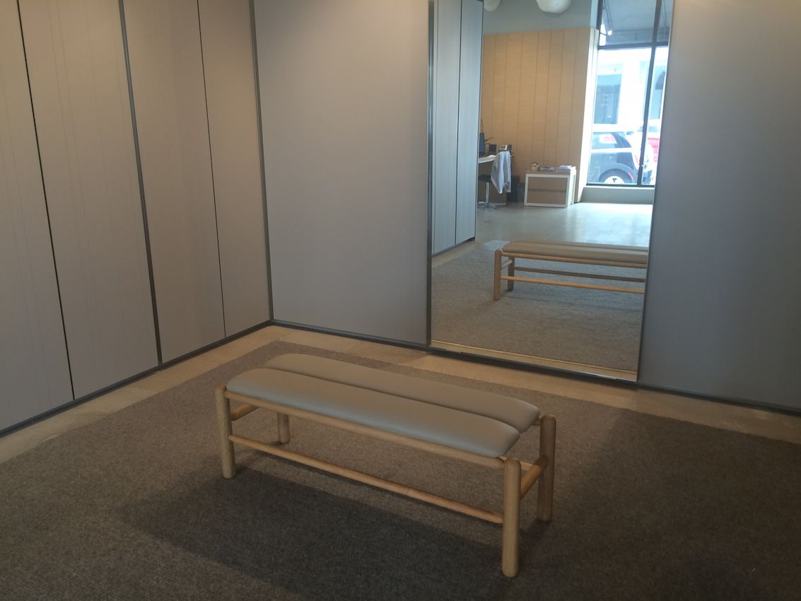 Bench in closet