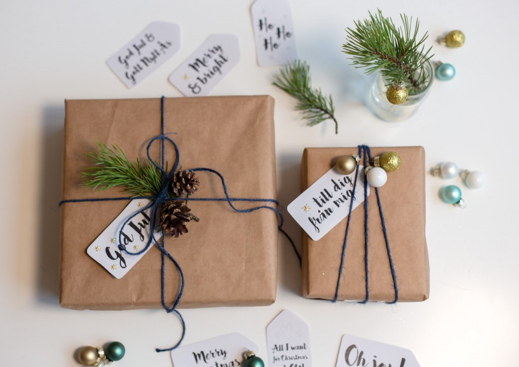 Brown paper gift wrapping