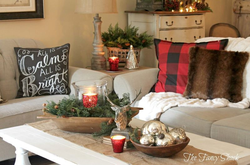 Coffee table christmas Decor ideas