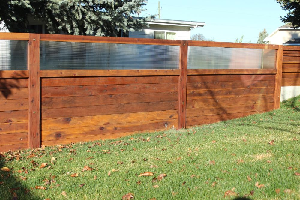 Curb Appeal - Wood Fence for Backyard