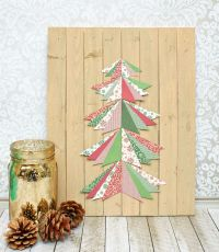 Paper Pieced Christmas Tree Wall Art Tutorial