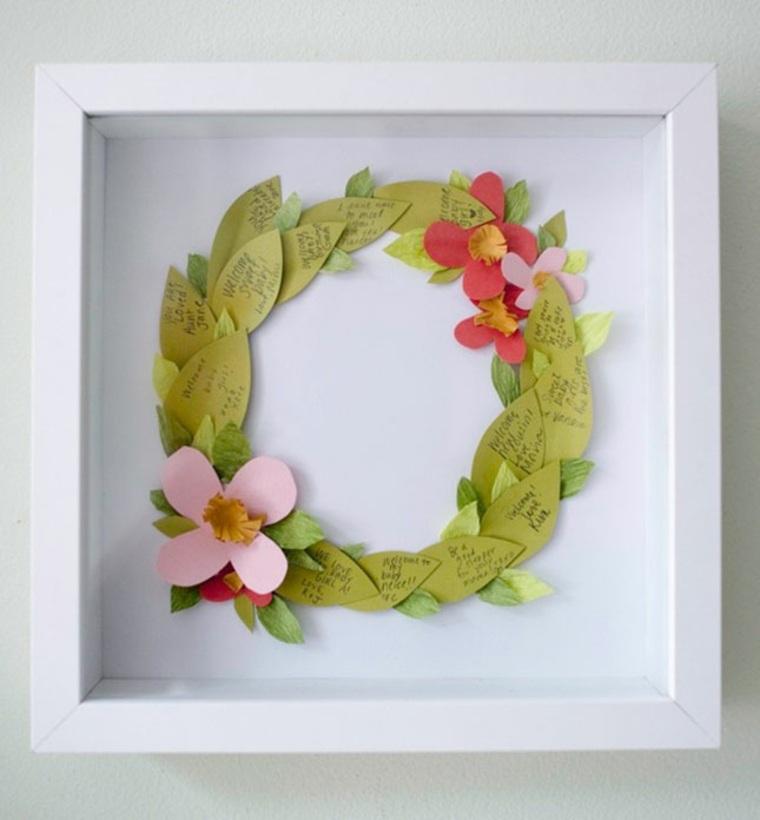 DIY baby shower wreath