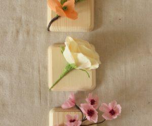 DIY faux flower blocks