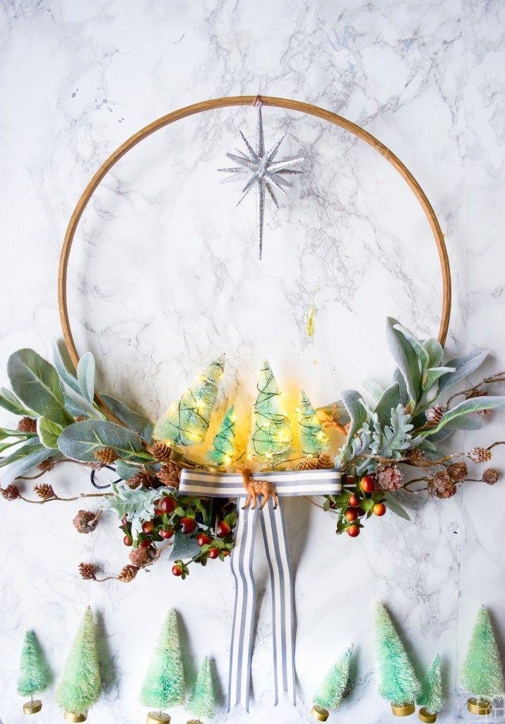 DIY minty holiday wreath