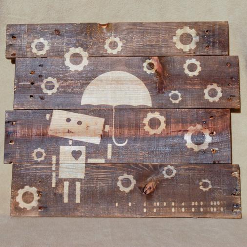 DIY robot wood stain