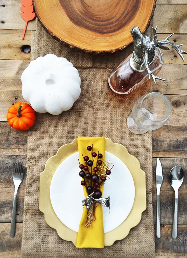 Decorating the table for a special event like Thanksgiving