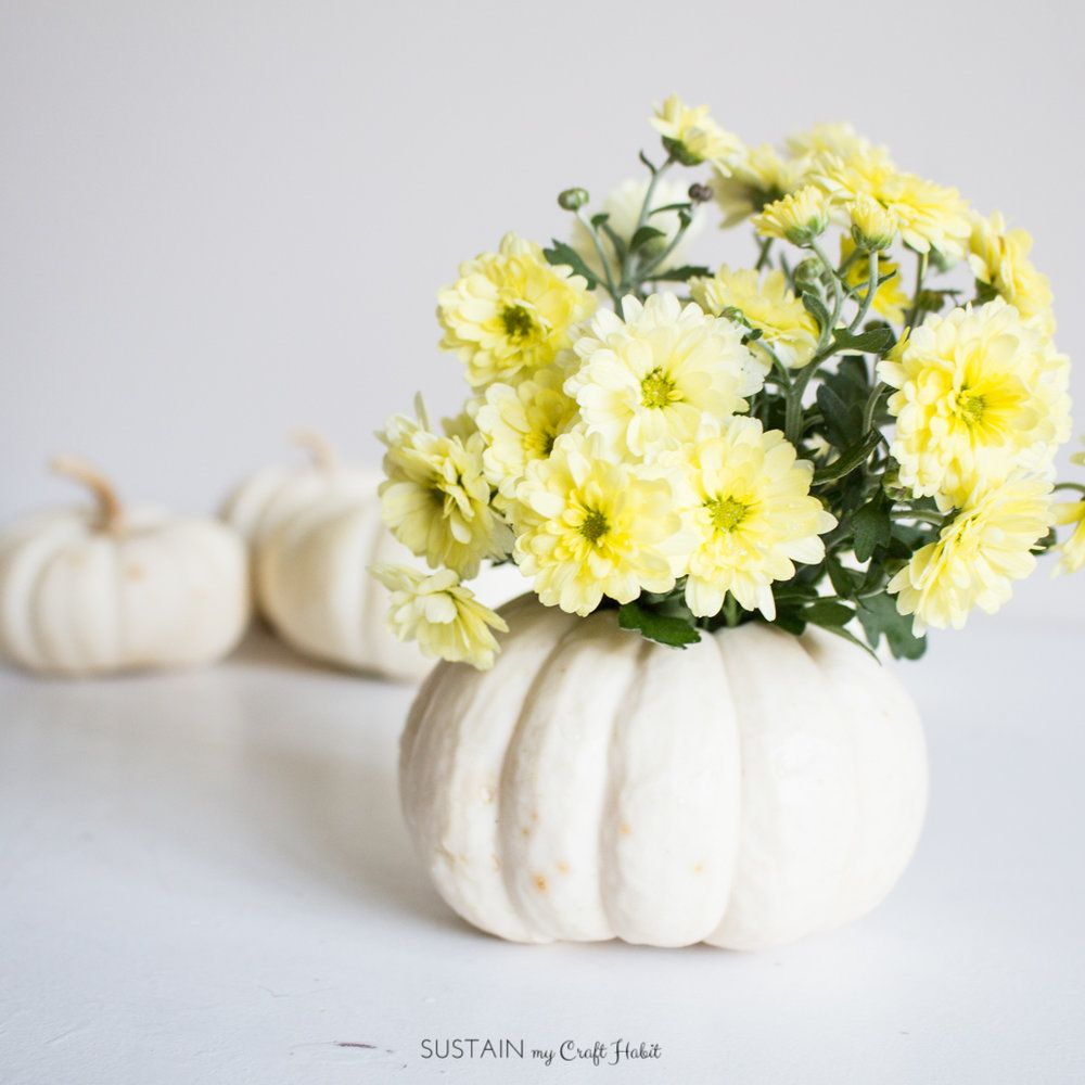 Fall pumpkin flower vase