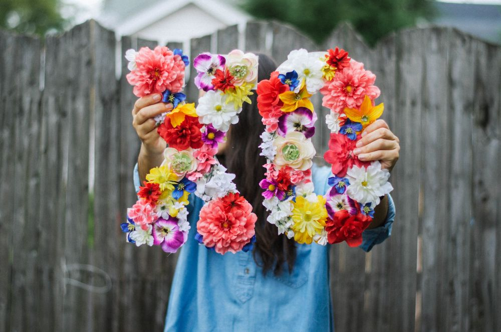 Flower DIY Letters
