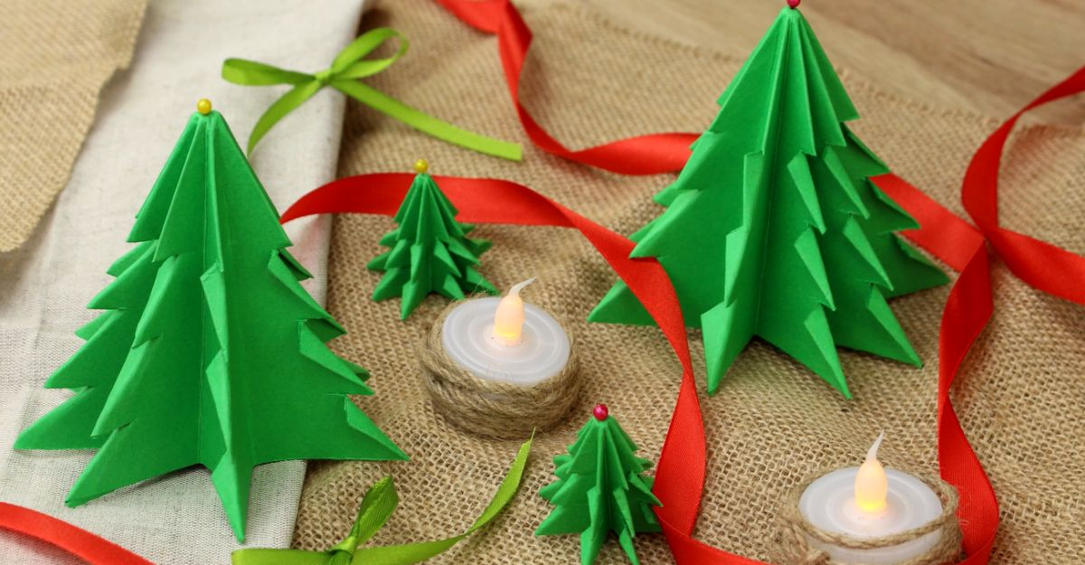Fold A ForestFull Of Paper Christmas Trees  Home Decorating Trends  Homedit