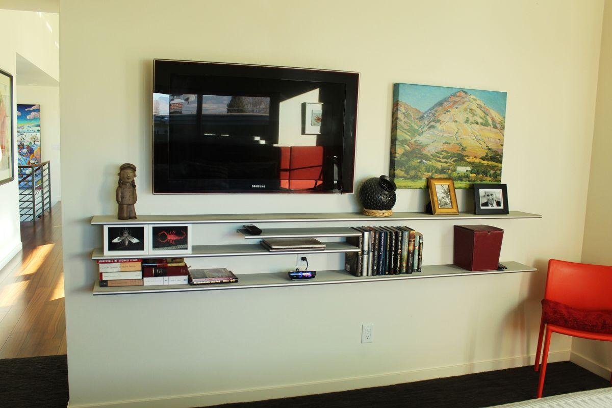 Media shelves for Master Bedroom