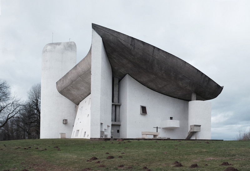 The Ronchamp church designed by Le Corbusier
