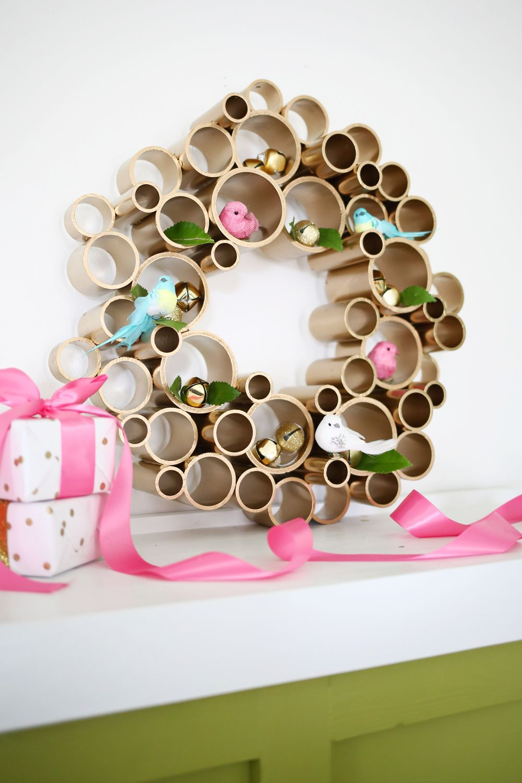 PVC pipe wreath