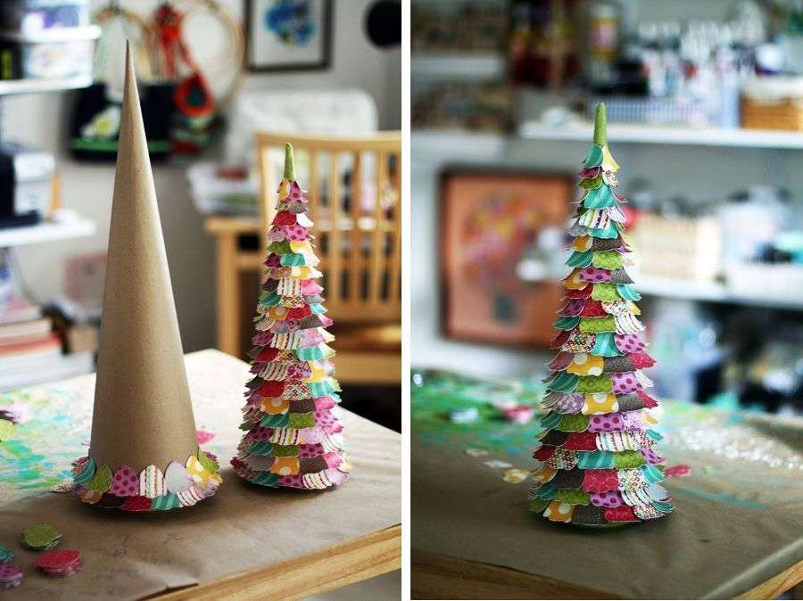 Paper christmas Tree for Table