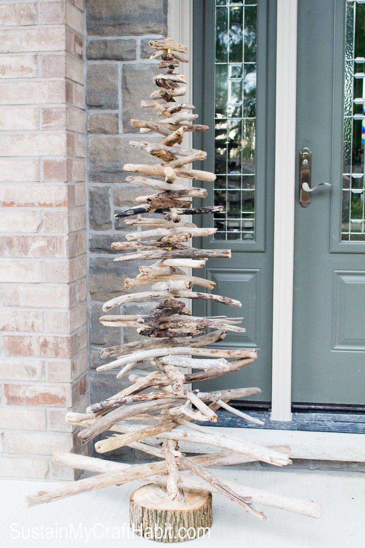 Rustic driftwood tree