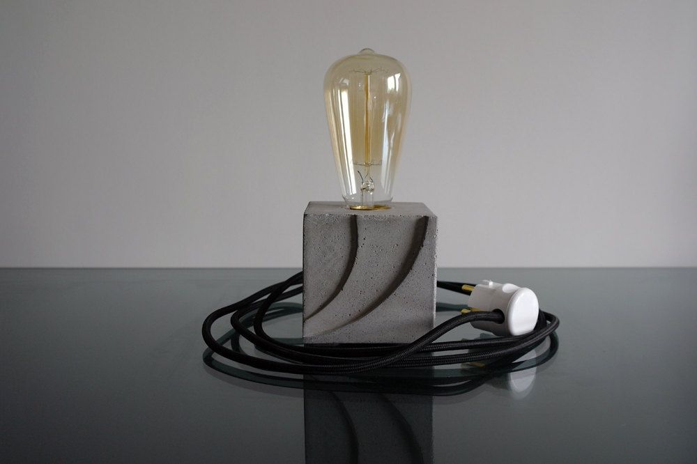 Ship concrete lamp