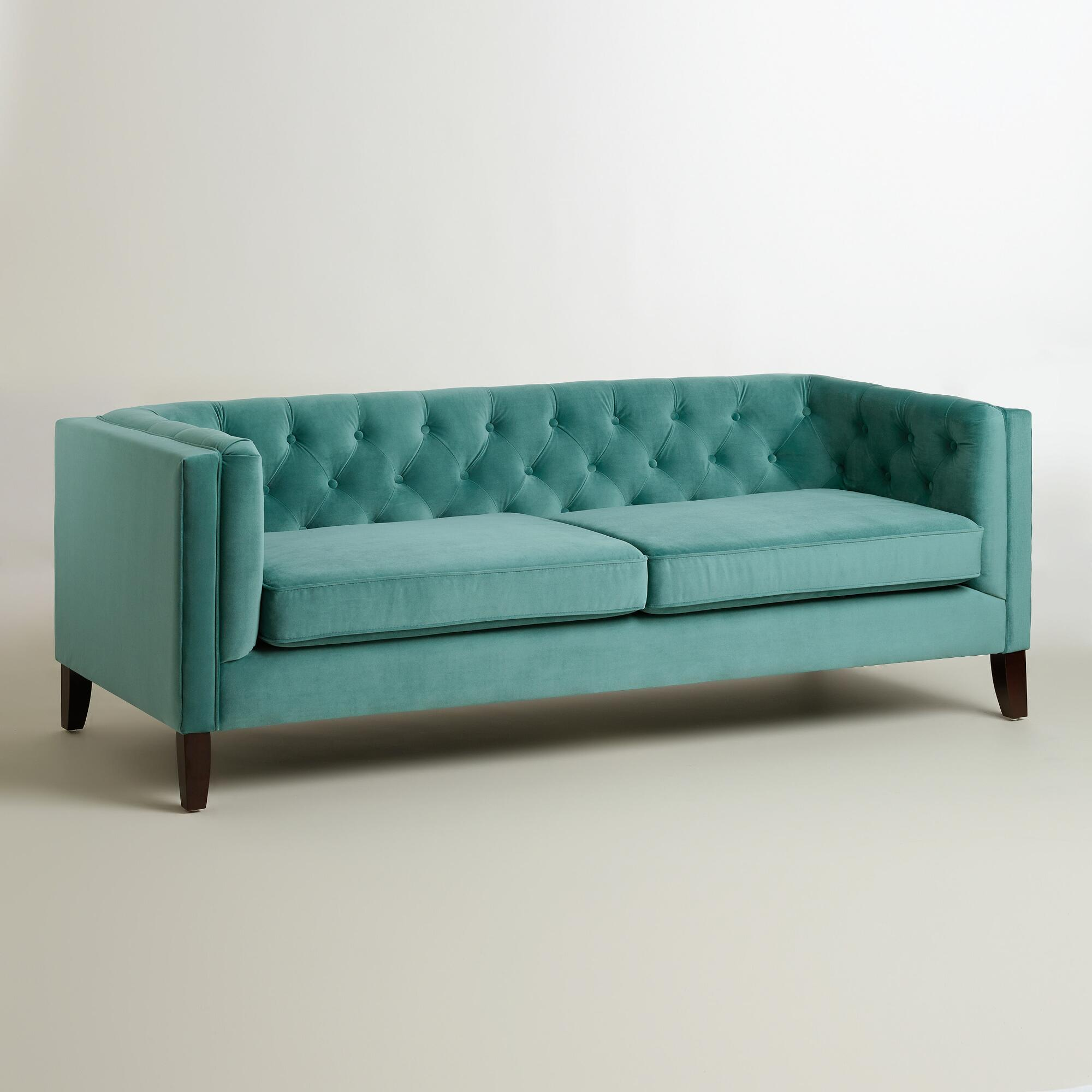 tufted turquoise sofa custom made cover singapore 10 velvet sofas to put in your living room immediately